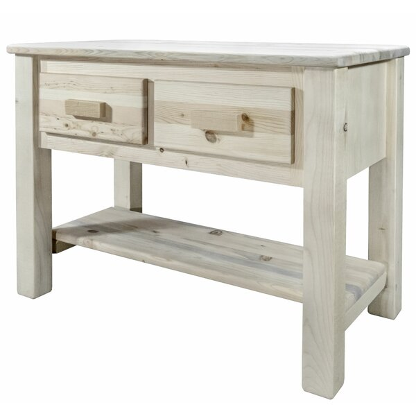 Abella 42-inch Solid Wood Console Table By Loon Peak