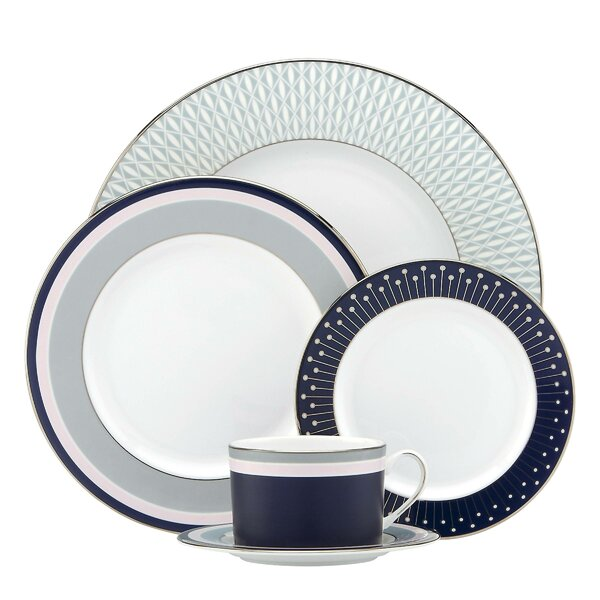 Mercer Drive Bone China 5 Piece Place Setting, Service for 1 by kate spade new york