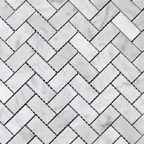 1 x 2 Mosaic Tile in Bianco Venantino by Ephesus Stones