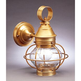 Affordable Onion 1-Light Outdoor Wall Lantern By Northeast Lantern