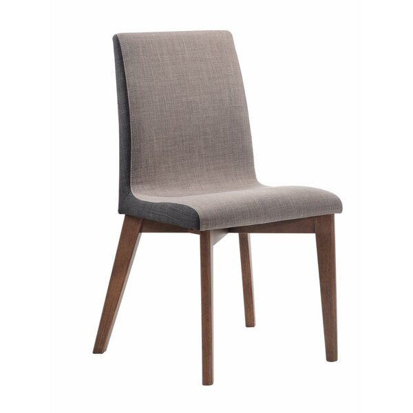 Alejandro Wooden Armless Upholstered Dining Chair (Set of 2) by George Oliver