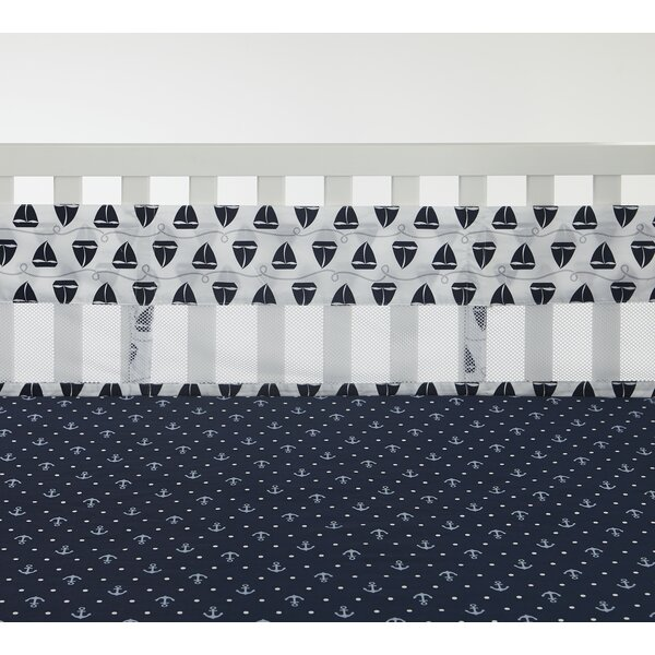Secure Me Sailboats and Stripes Crib Bumper by Nau