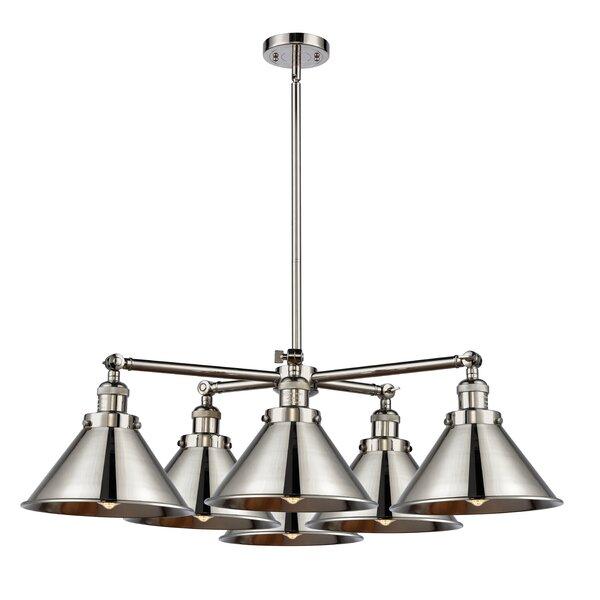 Gregoire 6 - Light Shaded Geometric Chandelier by Gracie Oaks Gracie Oaks