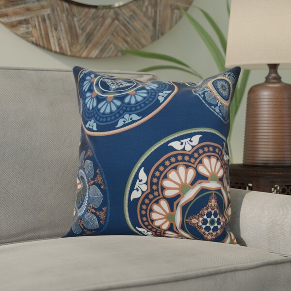 Soluri Medallions Outdoor Throw Pillow by Bungalow Rose