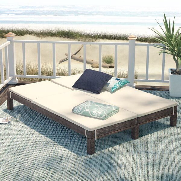 Belleview Wicker Double Chaise Lounge With Cushion By Beachcrest Home