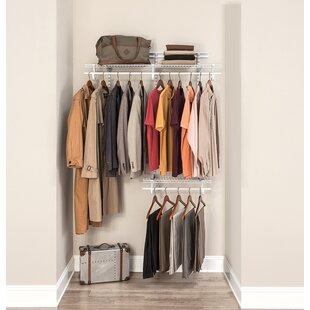 Shelf Track 122cm Wide Clothes Storage System By Closetmaid