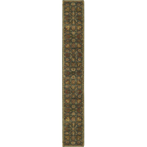 One-of-a-Kind Hand-Knotted Wool Green Indoor Area Rug by Bokara Rug Co., Inc.