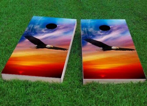 Flying Eagle in Sunset Cornhole Game (Set of 2) by Custom Cornhole Boards