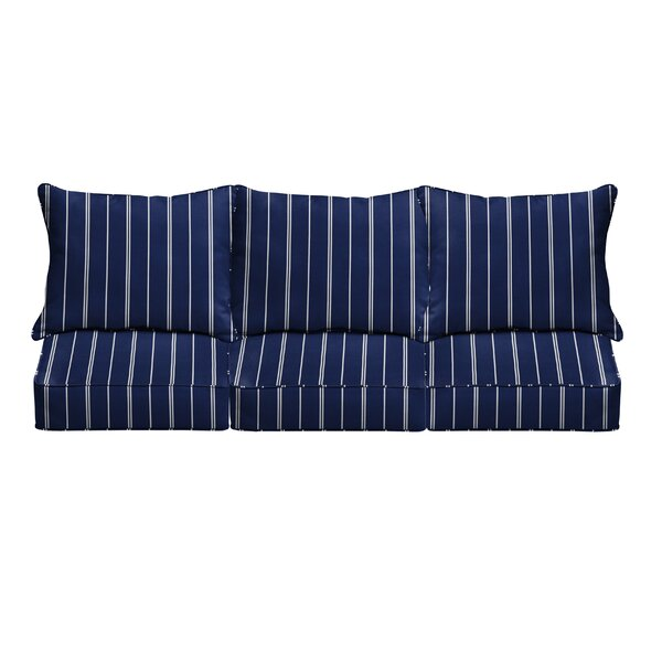 6 Piece Stripes Corded Indoor/Outdoor Sofa Cushion Set by Longshore Tides Longshore Tides