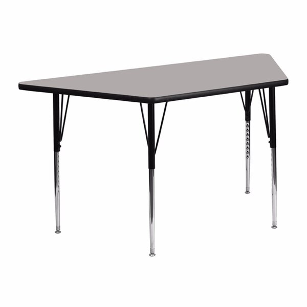 High Pressure Laminate Top Trapezoidal Activity Table by Offex