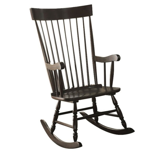 Lester Wooden Rocking Chair By August Grove
