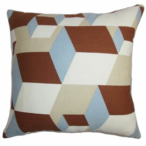 Fan Geometric Throw Pillow by The Pillow Collection