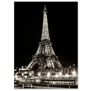 Eiffel Tower Paris Photographic Print on Wrapped Canvas by Latitude Run