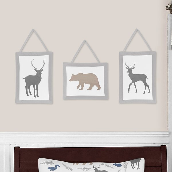 Woodland Animals 3 Piece Wall Hanging Art Set by Sweet Jojo Designs