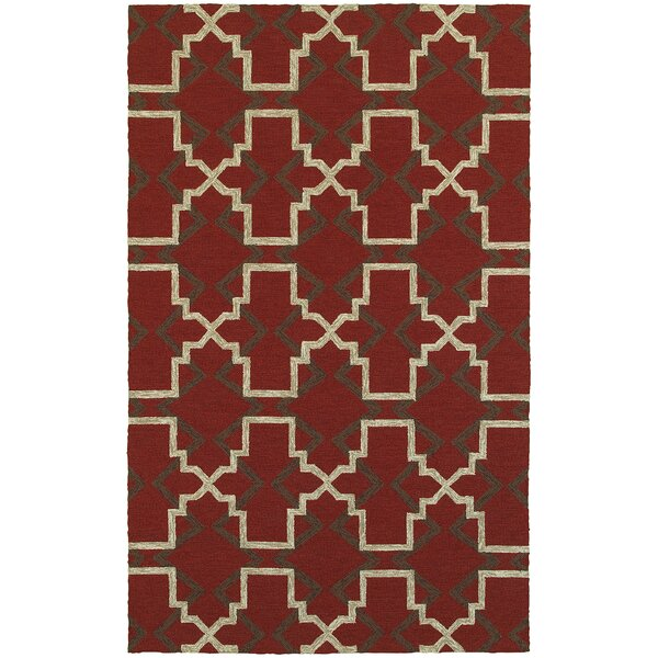 Atrium Lattice Quatrefoil Red Indoor/Outdoor Area Rug by Tommy Bahama Home