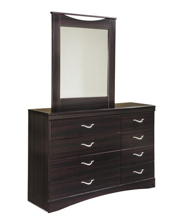 Komar 6 Drawer Double Dresser with Mirror by Ebern Designs