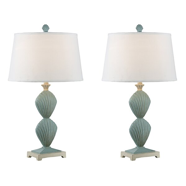 Massimo Clam Shell 30 Table Lamp (Set of 2) by Highland Dunes