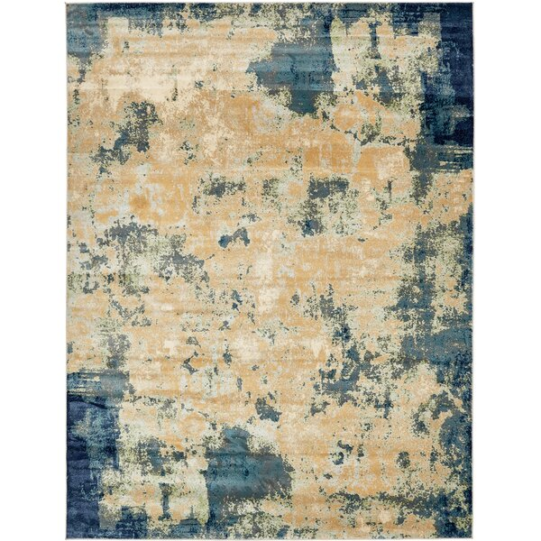 Jani Beige/Blue Area Rug by Bloomsbury Market
