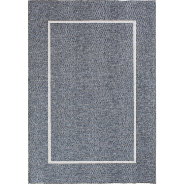 Alonesos Long Floats Gray Indoor/Outdoor Area Rug by Charlton Home