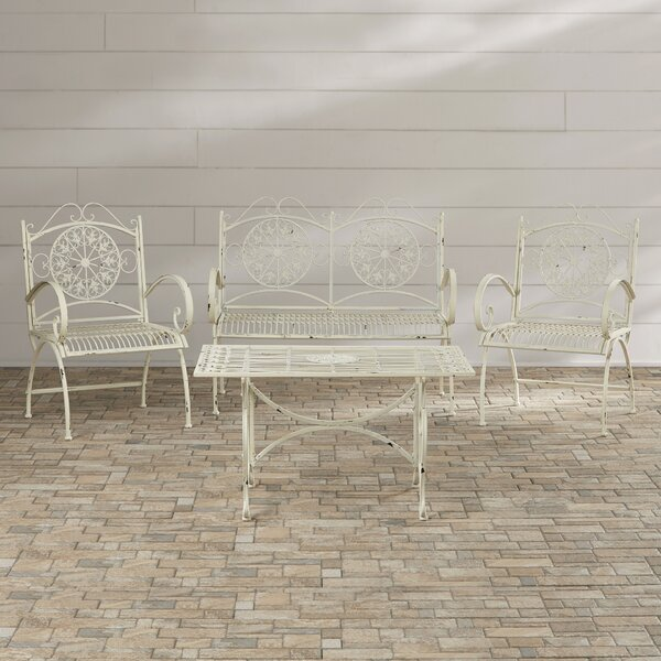 Lajoie 4 Piece Outdoor Seating Group by Lark Manor