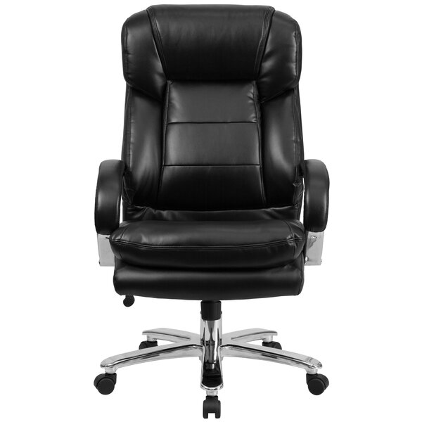 Pyron High-Back Leather Executive Chair by Latitude Run