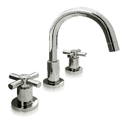 Metro Cross Widespread Bathroom Faucet with Drain Assembly