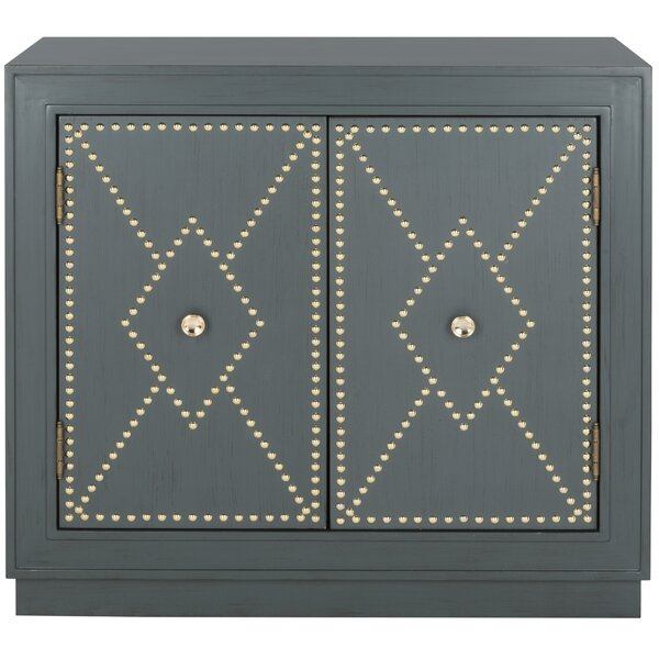 Studded 2 Door Accent Cabinet by Everly Quinn Everly Quinn