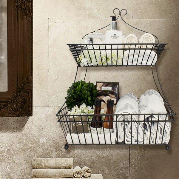 2 Tier Flat Metal Bread Basket By Sorbus.