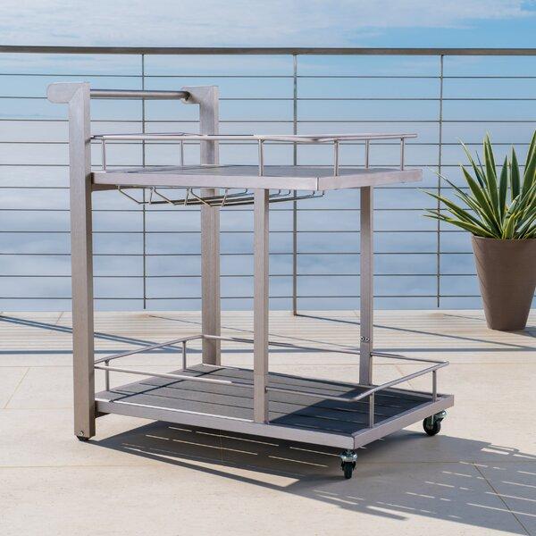Thurso Outdoor Aluminum Bar Cart by Wade Logan Wade Logan
