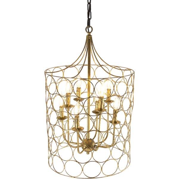 8 - Light Lantern Geometric Chandelier by Zentique Zentique