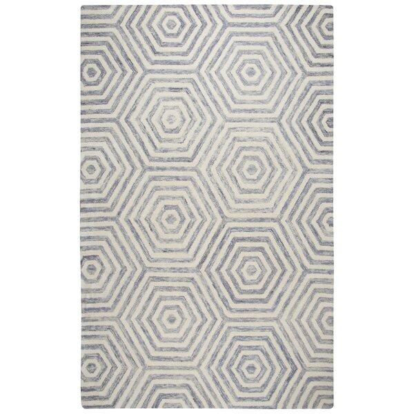 Malcolm Hand-Tufted Wool Light Gray Area Rug by Corrigan Studio