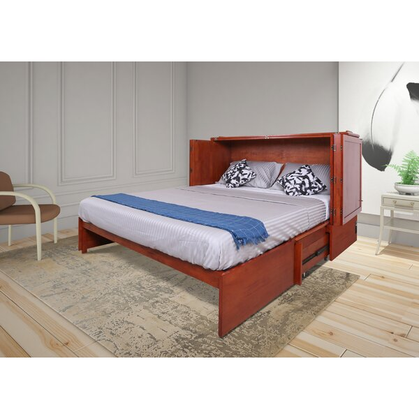 Kaneshiro Queen Storage Murphy Bed with Mattress by Red Barrel Studio