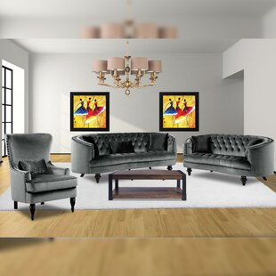 Myles 3 Piece Living Room Set by Rosdorf Park