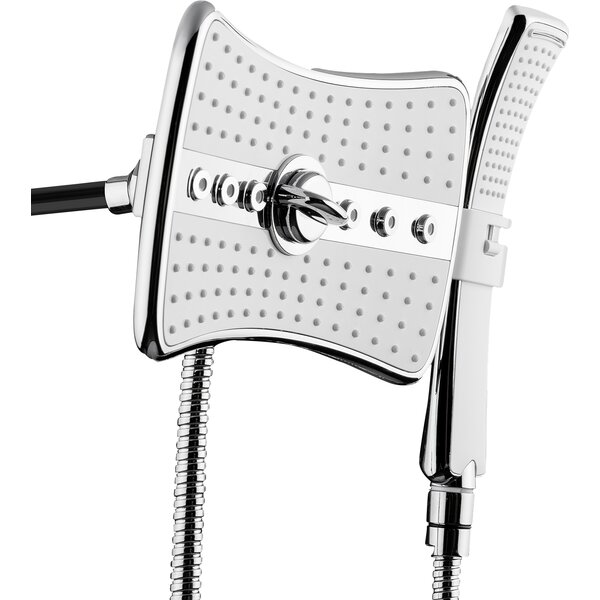 2.5 GPM Rainfall 2 Piece Jet Shower Head and Handheld Shower Wand Set by AKDY