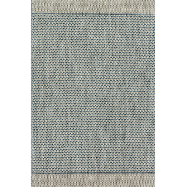 Nicki Gray/Blue Indoor/Outdoor Area Rug By Highland Dunes