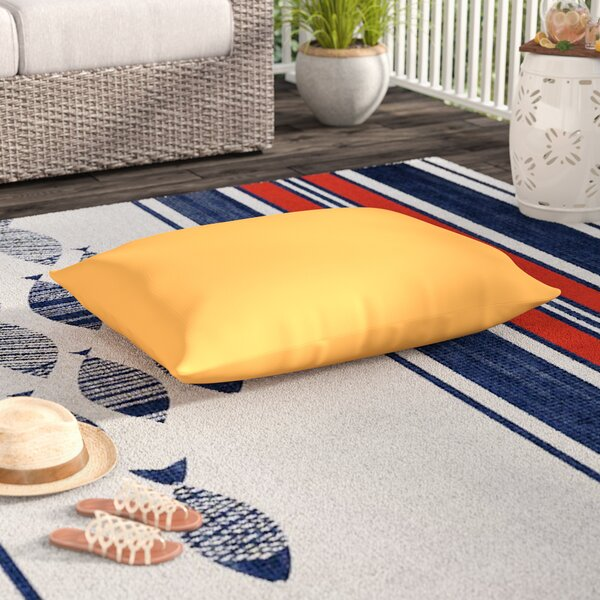 Woodsdale Bright Indoor/Outdoor Floor Pillow by Beachcrest Home