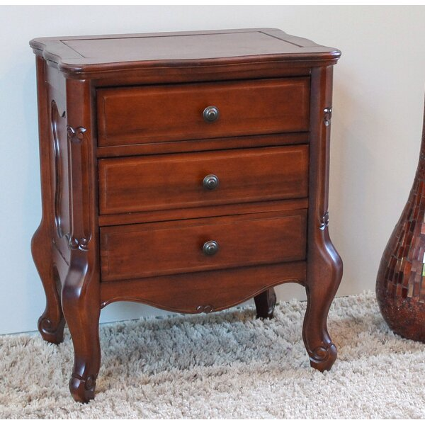 Lacey 3 Drawer Nightstand by Astoria Grand