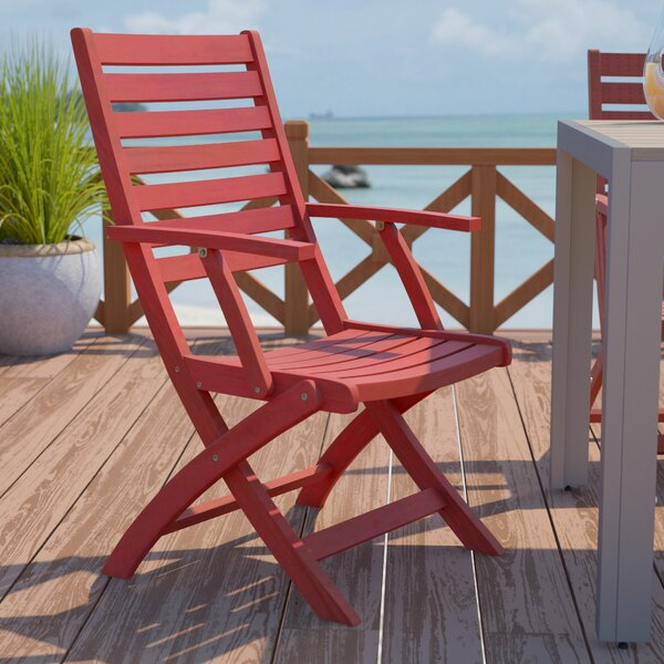 Bristol Folding Patio Dining Chair (Set of 2) by Beachcrest Home