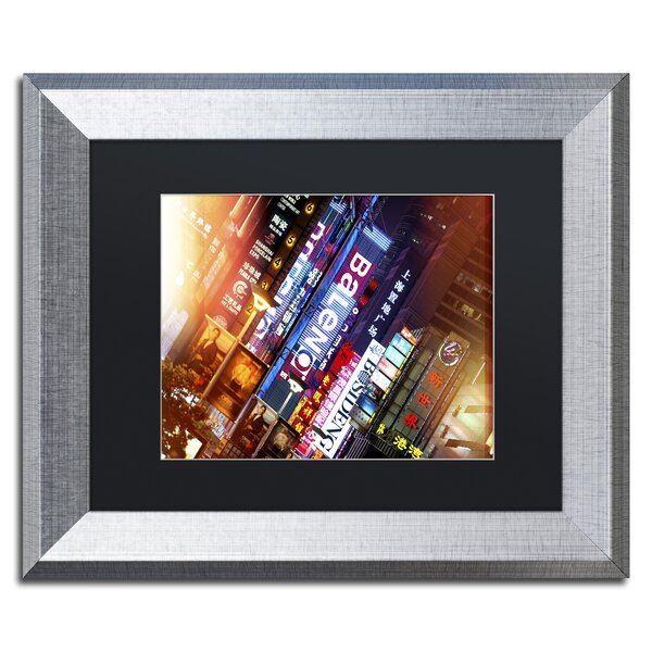 Neon Signs by Philippe Hugonnard Framed Photographic Print by Trademark Fine Art