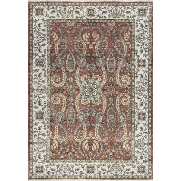 One-of-a-Kind Handwoven Wool Rust/Ivory Indoor Area Rug by Bokara Rug Co., Inc.