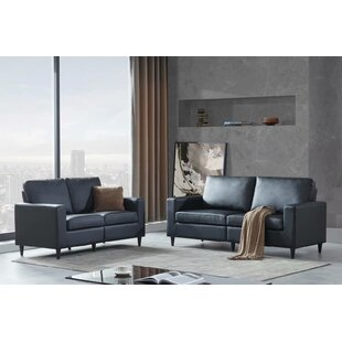 Morden Style PU Leather Sofa  2+3 Seat by Union Rustic