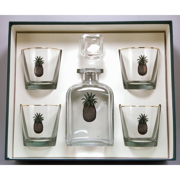 5-Piece Pineapple Decanter Set by Richard E. Bishop