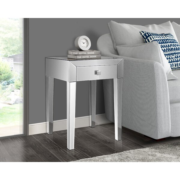 Broadbent End Table with Storage by Rosdorf Park