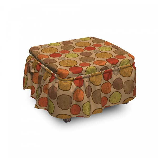 Old Cut Tree Trunks Vintage Ottoman Slipcover (Set Of 2) By East Urban Home