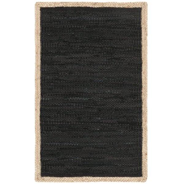 Church Hand-Woven Black Area Rug by Highland Dunes