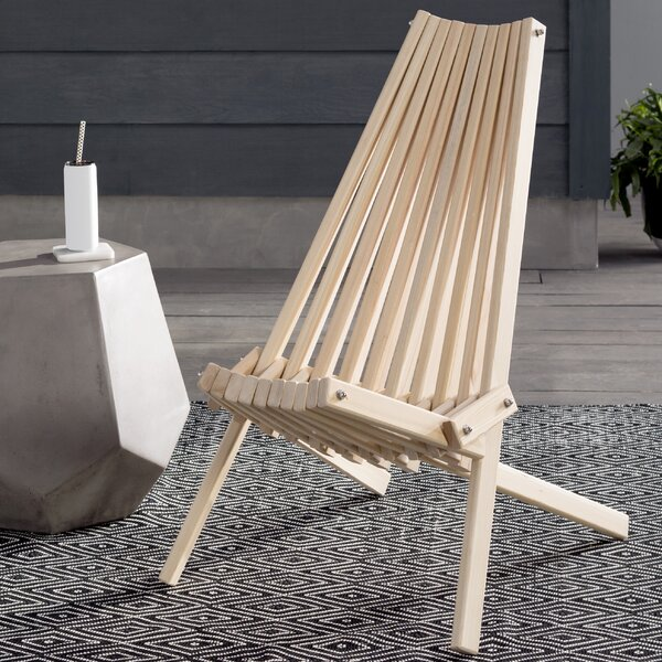 Solid Wood Folding Adirondack Chair by Hershy Way