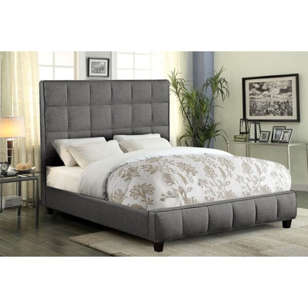 Loft Grid Tufted Upholstered Standard Bed by Diamond Sofa