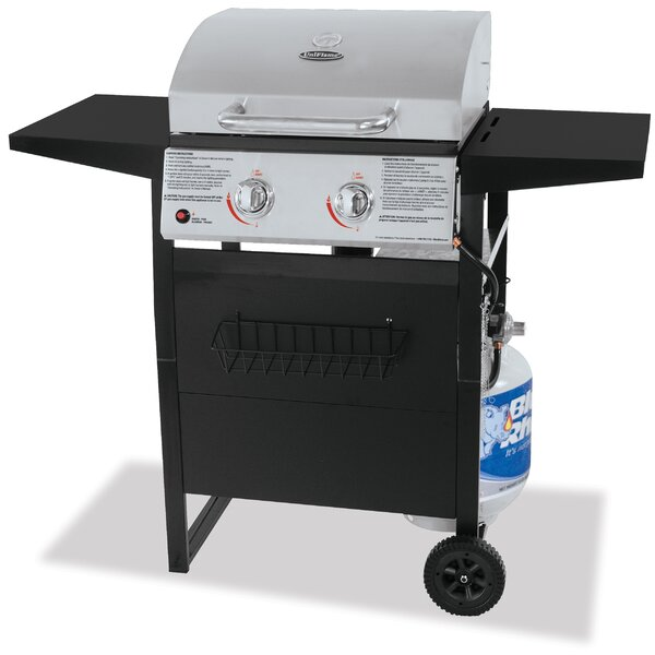 Barbecue 2-Burner Propane Gas Grill with Side Shelves by Uniflame Corporation