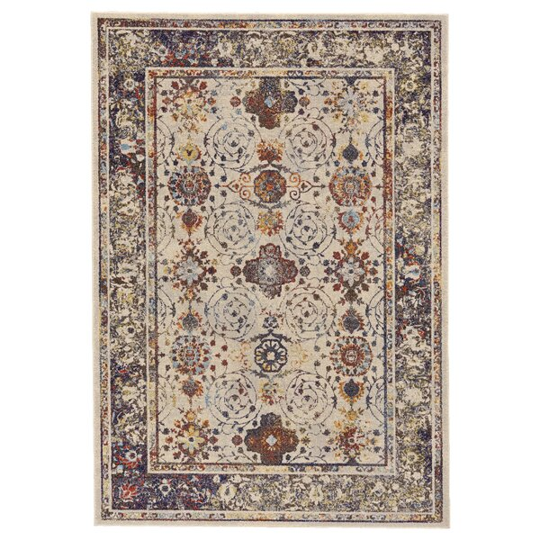 Gries Beige/Blue Area Rug by Bungalow Rose