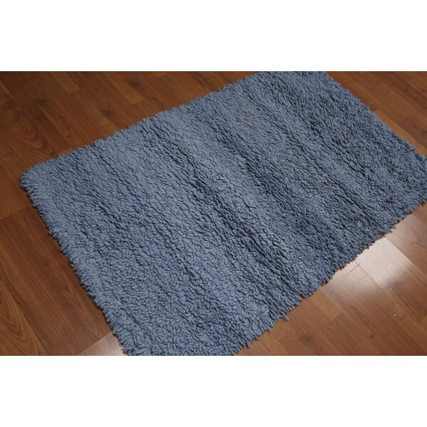One-of-a-Kind Thummepalli Hand-Knotted Wool Blue Area Rug by Red Barrel Studio